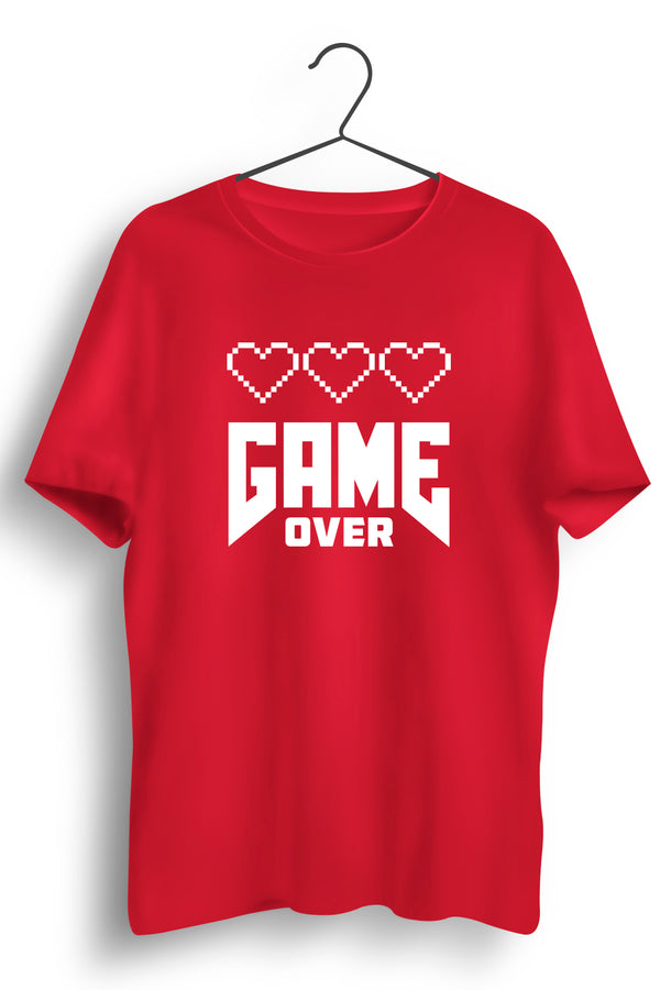 Game Over Red Tshirt