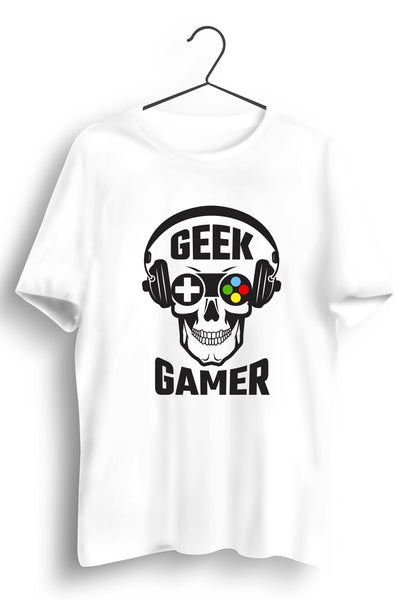 Geek Gamer White Tshirt