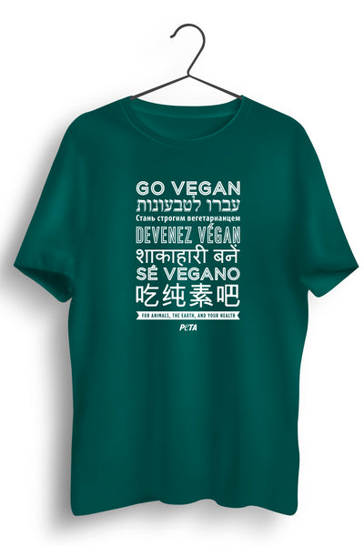 Go Vegan Multilingual Green Tshirt