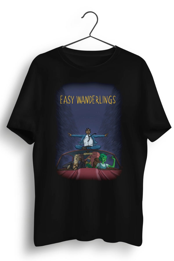 Going Easy Graphic Printed Black Tshirt