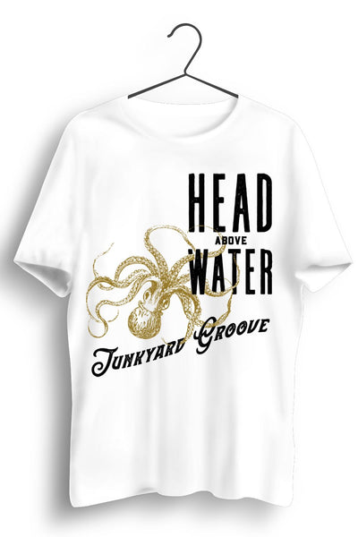 Head Above Water Gold Octopus Print