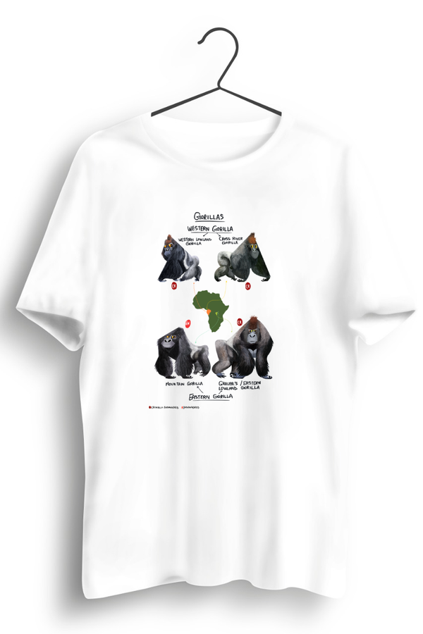 Gorillas of the World White Tshirt