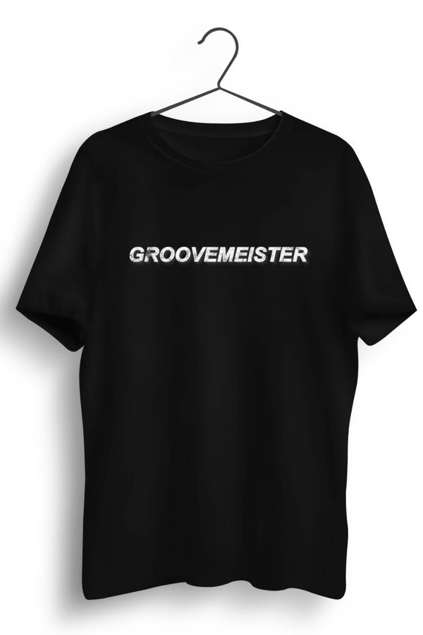 Groovemeister Graphic Printed Black Tshirt