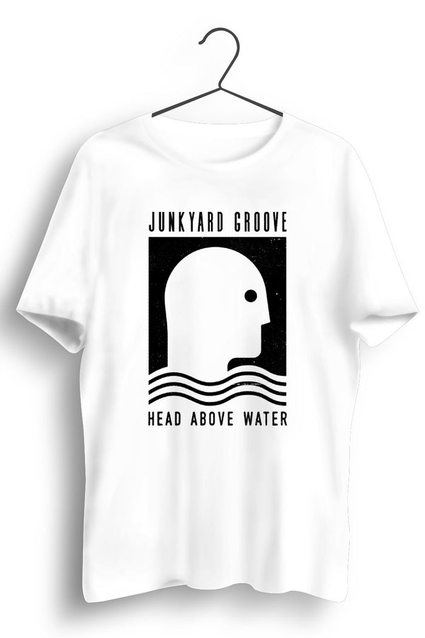 Head Above Water Black Artwork White Tshirt