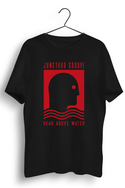 Head Above Water Red Artwork Black Tshirt