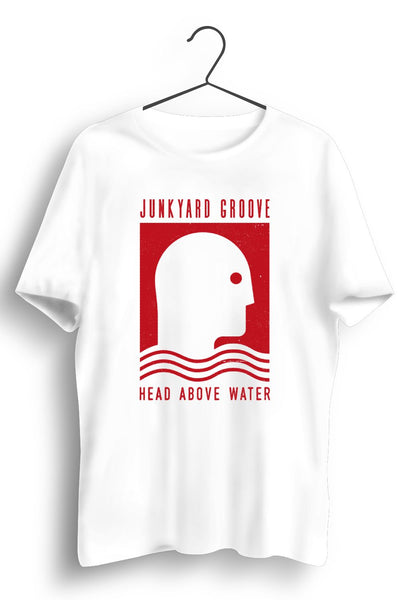 Head Above Water Red Artwork White Tshirt