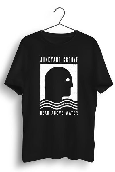 Head Above Water White Artwork Black Tshirt