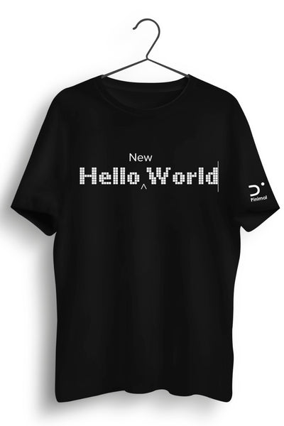 Hello New World Black Tshirt