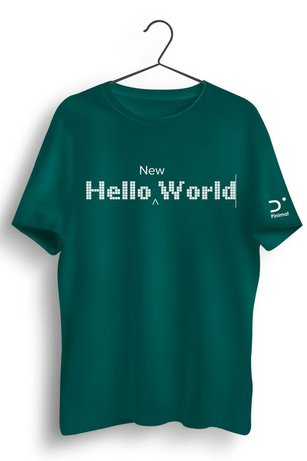 Hello New World Green Tshirt