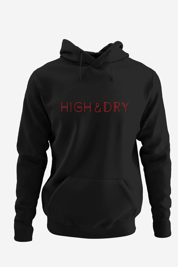 High and Dry All Weather Black Hoodie