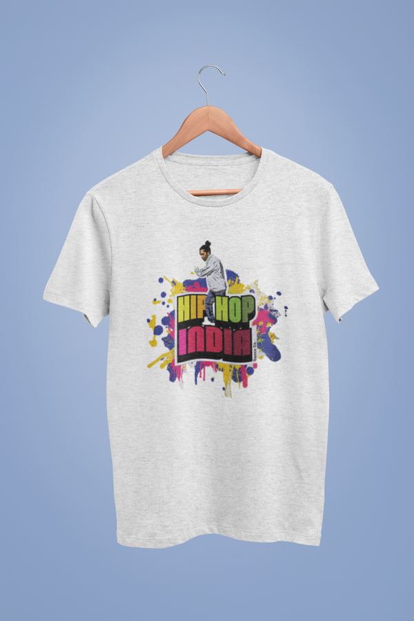 Hip Hop India Logo White Tshirt
