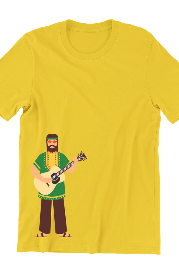 Hippie Music Yellow Tshirt