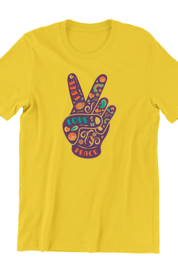 Hippie Victory Yellow Tshirt