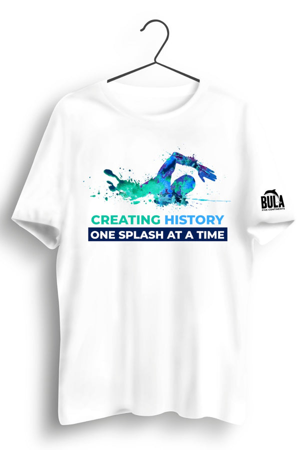 Creating History Graphic Printed White Tshirt