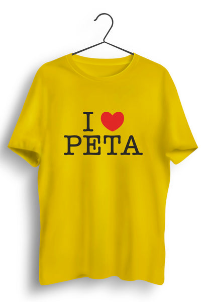 I Love Peta Yellow Tshirt