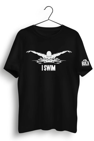 I Swim Black Tshirt
