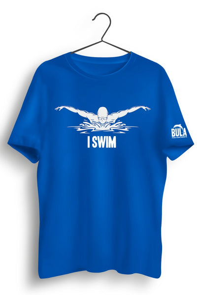 I Swim Blue Tshirt