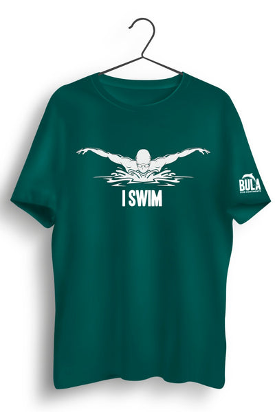 I Swim Green Tshirt