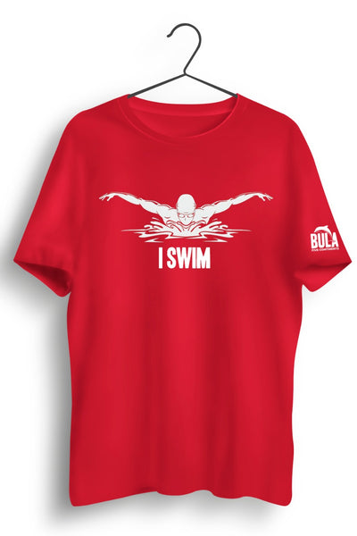 I Swim Red Tshirt