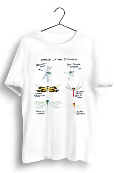 Indian Dragonflies White Tshirt