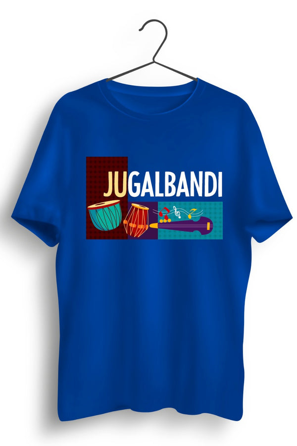 Jugalbandi Instruments Graphic Printed Blue Tshirt