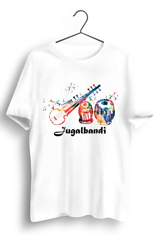 Jugalbandi Graphic Printed White Tshirt