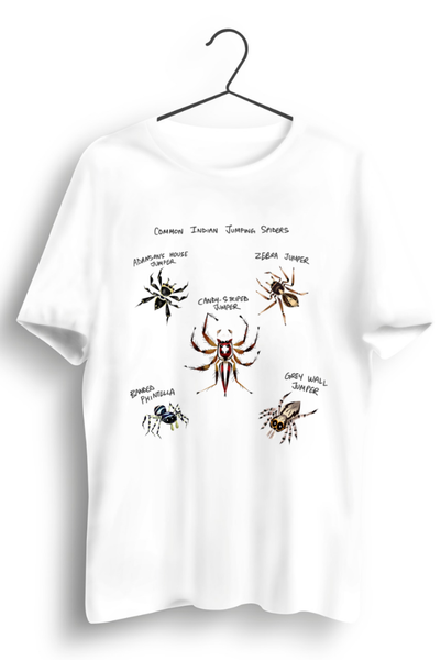 Jumping Spiders White Tshirt
