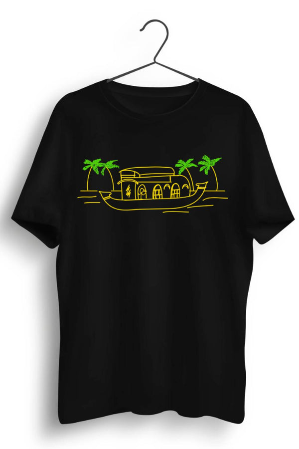 Kerala Graphic Printed Black Tshirt