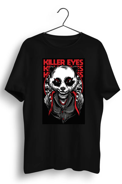 Killer Eyes Graphic Printed Black Tshirt