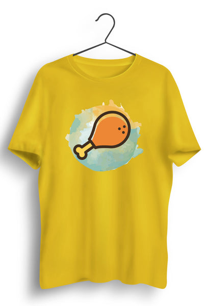 Chicken Leg Piece Yellow Tshirt