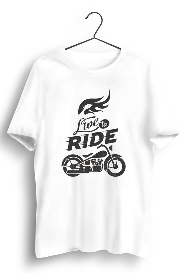 Live To Ride Side White Tshirt