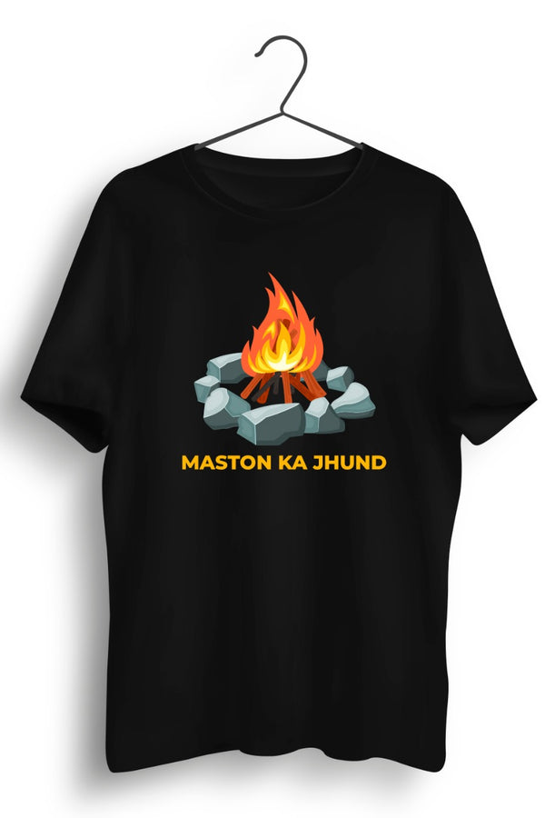 Maston Ka Jhund Graphic Printed Black Tshirt