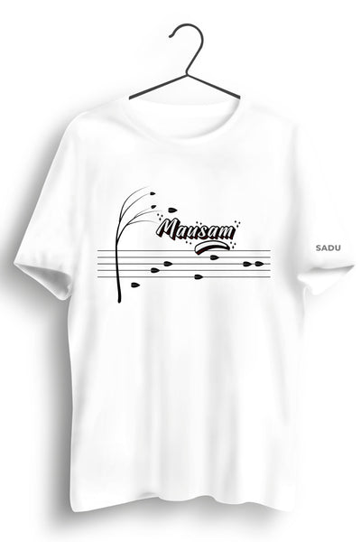 Mausam Graphic Printed White Tshirt