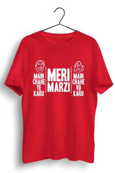 Meri Marzi Red Cotton Tshirt