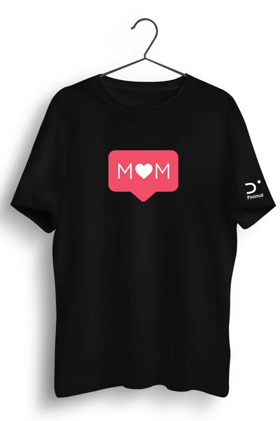 Mom Graphic Printed Black Tshirt