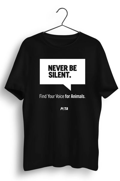 Never Be Silent Black Tshirt