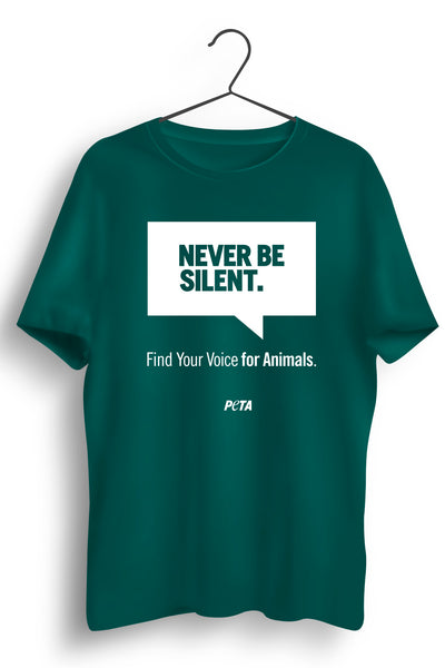 Never Be Silent Green Tshirt
