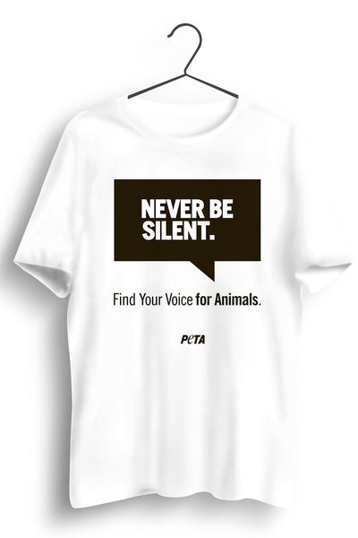Never Be Silent White Tshirt