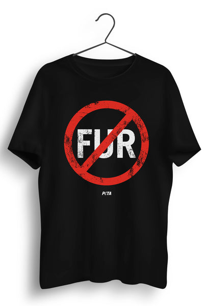 No Fur Black Tshirt