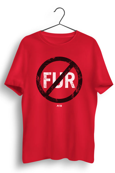 No Fur Red Tshirt