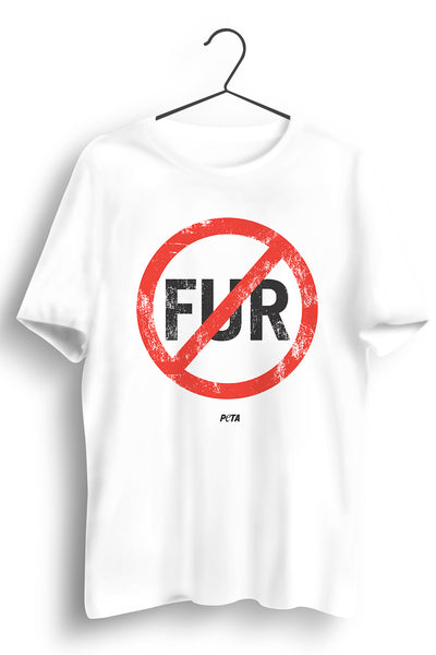 No Fur White Tshirt