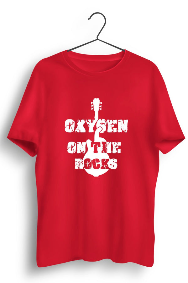Oxygen On The Rocks Logo Red Tshirt