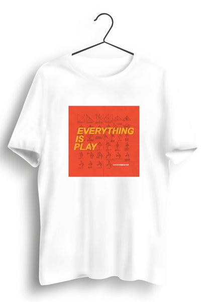 Everything Is Play Album Artwork White Tshirt