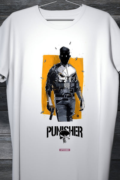 The Punisher - Marvel Cinematic Universe - Comic Style Printed T-Shirt