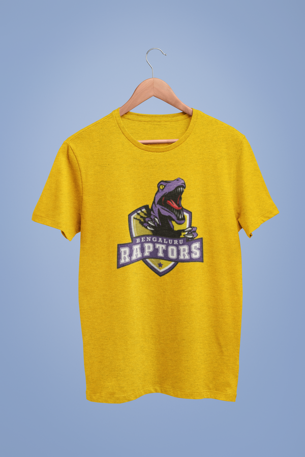 Bengaluru Raptors Logo Graphic Yellow Tshirt