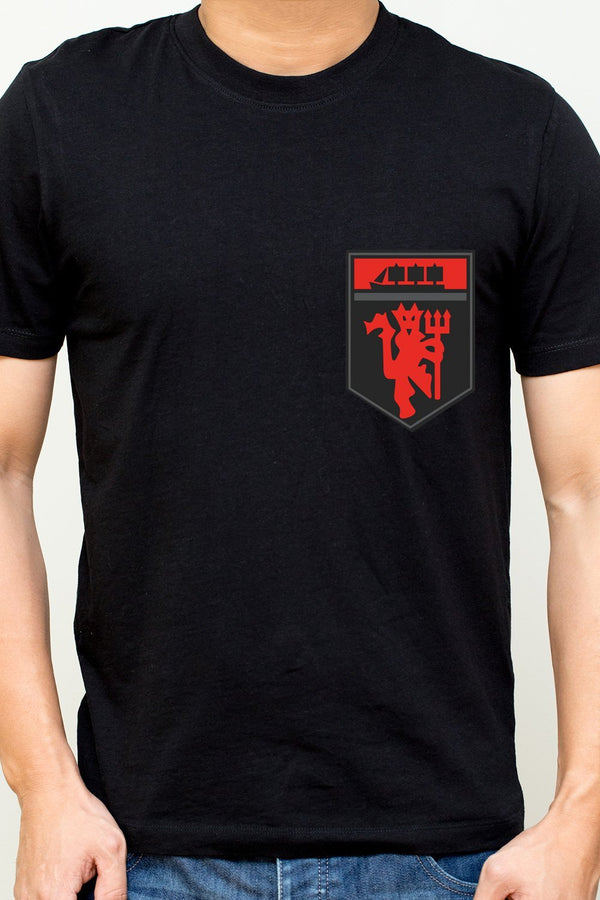 Red Devil - Manchester United Logo Printed On The Chest