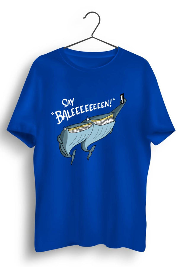 Say Baleen Blue Tshirt