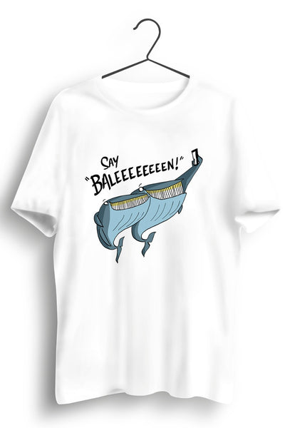Say Baleen White Tshirt