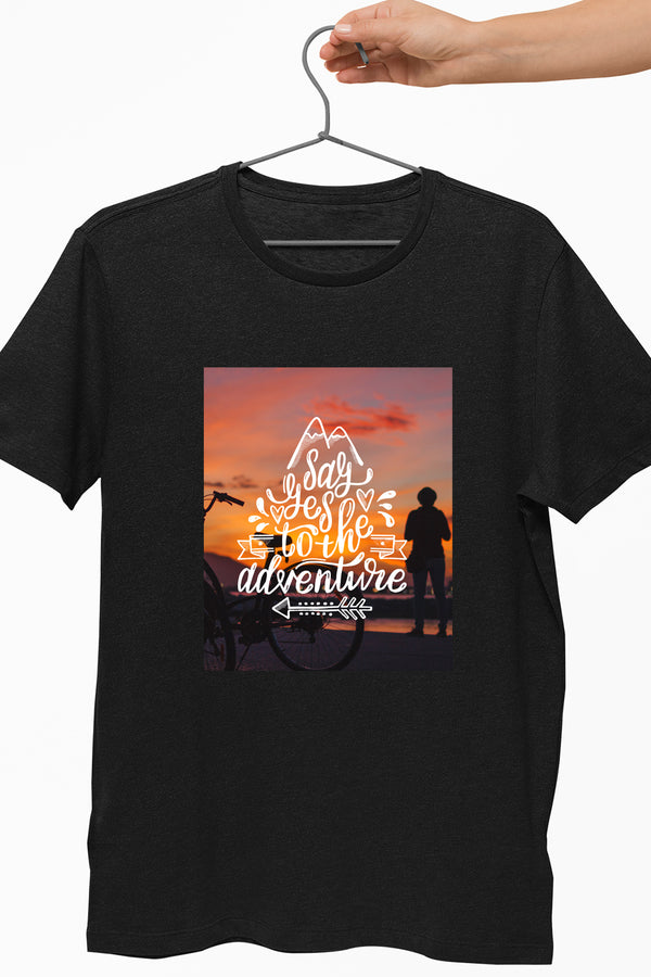 Say Yes To The Adventure Black Tshirt