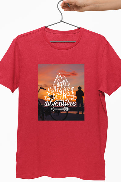Say Yes To The Adventure Red Tshirt